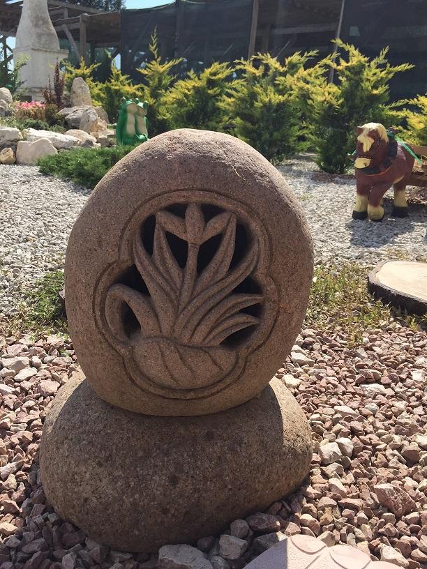 светильник из камня